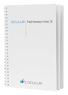 Die Nahleseprobe 2 besteht aus 12 beidseitig bedruckten Seiten, blendfrei kaschiert mit Spiralbindung