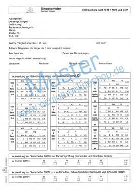 Satz Testblöcke für Binoptometer® I Testscheibe 59700 C