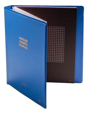 Amsler-Tafeln, Ringbuch, 7 Tafeln, inkl. 50 Auswerteformulare