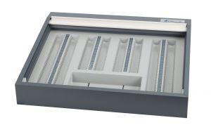 Brillenbestimmungskasten BK 1 SE als Tischversion, ohne Refraktionsgläser, mit Nutenrahmen
