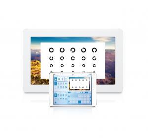 Das Steuerungs-iPad mit Darstellung des aktuellen Tests