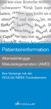 "Faltbroschüre ""Altersabhängige Makuladegeneration (AMD)"""