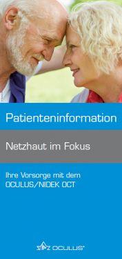 """Faltbroschüre """"Netzhaut im Fokus"""""""