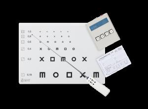 H-Test nach Hohmann/Haase: Optotypentafel, Matching-Box (Anzeigegerät), Infrarot-Fernbedienung und Testblock (100 Blatt)