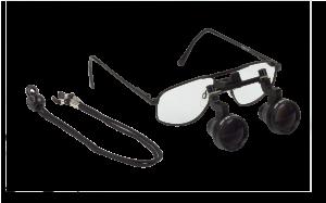 Lupenbrille 2,5x/400 mm mit Nahteildistanzstück