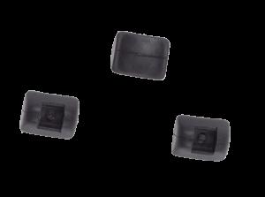 Nasenauflage schwarz, weich, klein (3er-Set)