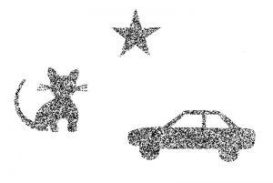 Lang Stereotest I® mit Katze-, Stern- und Auto-Figur