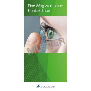 """Informationsbroschüre """"Der Weg zu meiner Kontaktlinse"""", 100 Stück"""