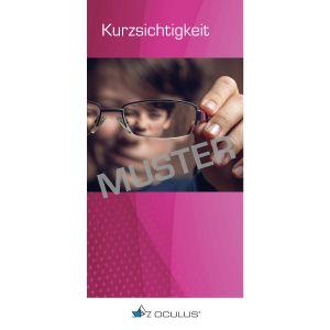 """Faltbroschüre """"Kurzsichtigkeit bei Kindern und Jugendlichen"""""""