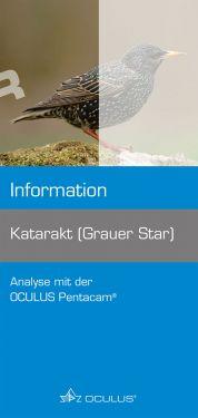 """Titelseite Informationsbroschüre """"Katarakt (Grauer Star)"""""""