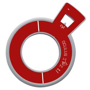 Refraktionsglas tl (38 mm) zylindrisch Achse 135° konkav VERGÜTET