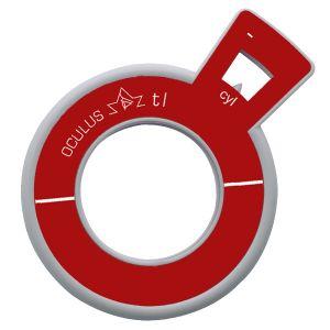 Refraktionsglas tl (38 mm) zylindrisch Achse 45° konkav VERGÜTET