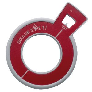 Refraktionsglas tl (38 mm) zylindrisch Achse 90° konkav