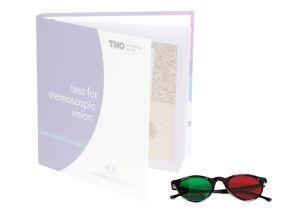 Rot/Grün-Brille zum TNO-Stereotest