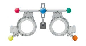 Universal-Messbrille UB 5 mit bunten Bedienelementen. Die bunten Bedienelemente sind im Lieferumfang enthalten und können ganz einfach aufgesteckt werden.