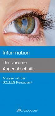 """100 Stück Informationsbroschüre """"Der vordere Augenabschnitt"""""""